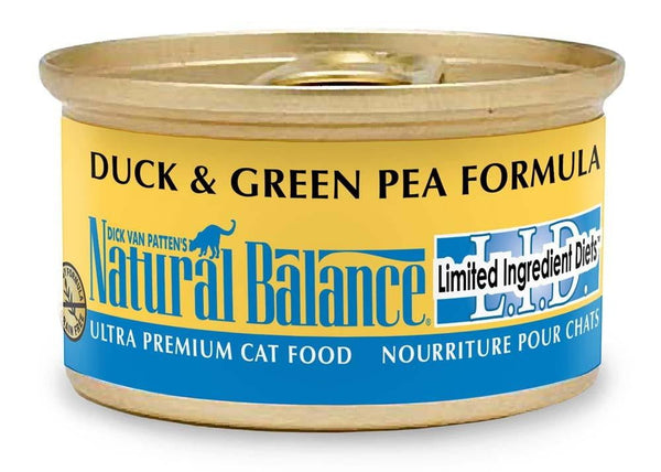 Natural Balance LID Duck & Green Pea Formula Canned Cat Food 24-5.5oz.