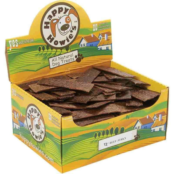 "Happy Howie Dog Beef Jerky  12"" 40 Pack."