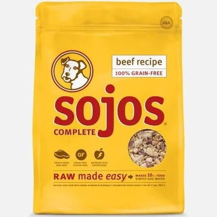 SOJOS DOG FREEZE-DRIED COMPLETE ADULT BEEF 4OZ.