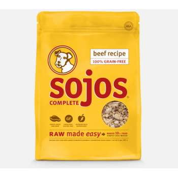SOJOS DOG FREEZE-DRIED COMPLETE ADULT BEEF 1.75LB.