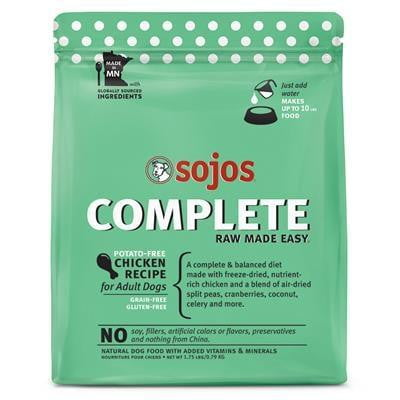 SOJOS DOG FREEZE-DRIED COMPLETE ADULT CHICKEN 1.75LB.