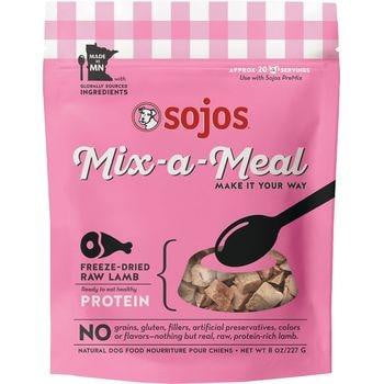 SOJOS DOG FREEZE-DRIED MIX-A-MEAL PROTEIN LAMB 8OZ.