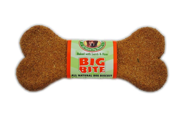 Natures Animals All Natural Big Bite Lamb and Rice  Dog Biscuit Bulk 8in-24pc.