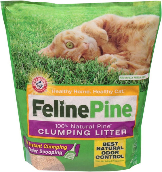 Arm & Hammer Feline Pine Clumping Litter 8 lbs. Bag.
