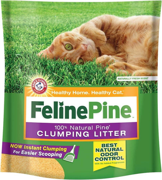 Arm & Hammer Feline Pine Cat Litter 14 Lb Bag.