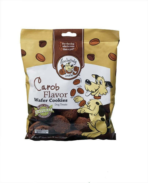 Exclusively Pet Wafer Cookies Carob Flavor Dog Treats 8oz.