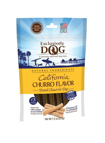 Exclusively Dog California Churro Flavor Dental Chew 7.5 oz.