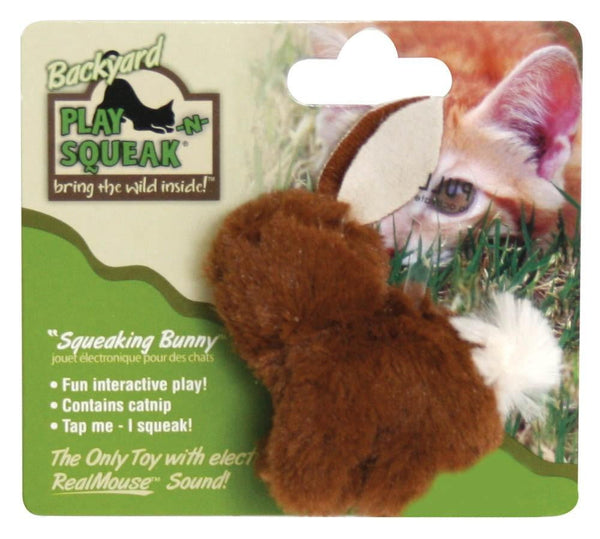 OurPet's Play-N-Squeak Backyard Bunny