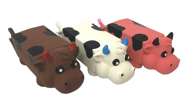 Multipet Moo Mates Latex Cow Milk Carton