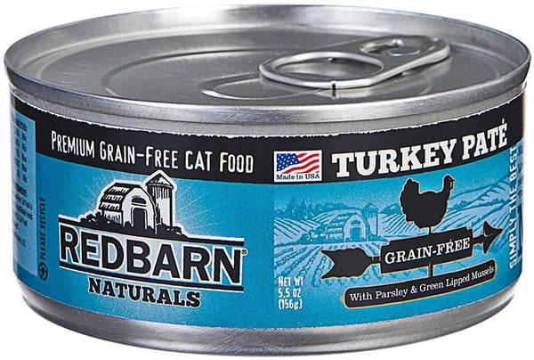 Redbarn Naturals Grain-Free Turkey Pate Cat Canned Food 24ea-5.5oz