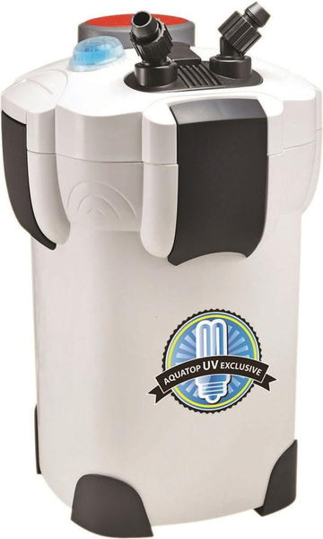 AQUATOP Canister Filter with UV Sterilization 525gph.