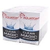 AQUATOP Clear Magic Powder - 6 Packs Per Box.