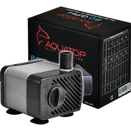 AQUATOP Aquarium Submersible Pump 80gph - Leaderpetsupply.com