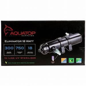 Aquatop Eliminator Series In-Line UV Sterilizer 36W 1250gph - Leaderpetsupply.com