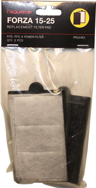 FORZA 15-25 Replacement Filter Inserts with Premium Activated Carbon.