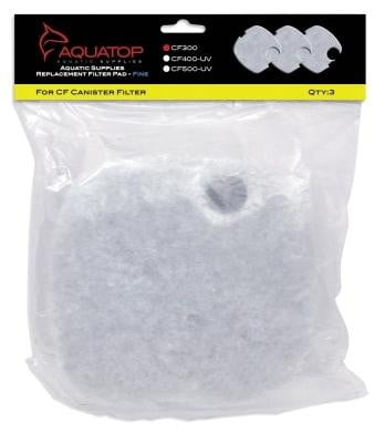 AQUATOP Replacement White Filter Pads for the CF-300 - 3pk.