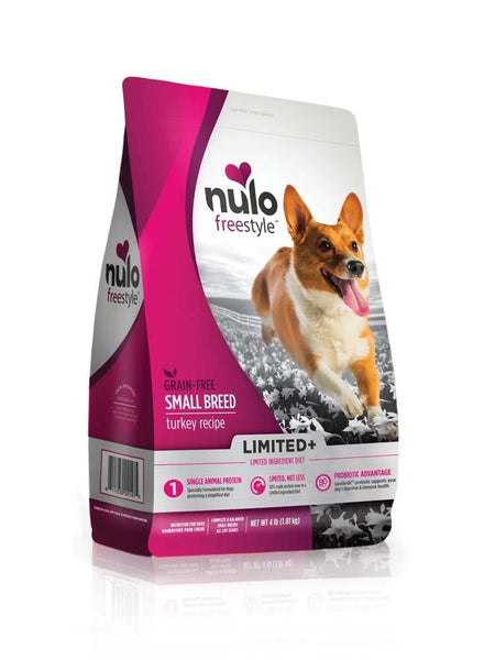 Nulo FreeStyle Limited+ Grain Free Small Breed Turkey Dry Dog Food 10lb.