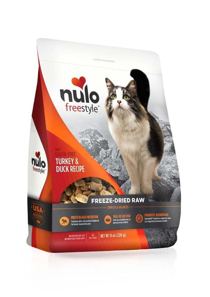 Nulo FreeStyle Freeze-Dried Raw Turkey & Duck Cat Food 8oz.