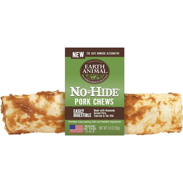 "Earth Animal No Hide Venison  Chews Dog Treats,  7"" (Case of 24)"