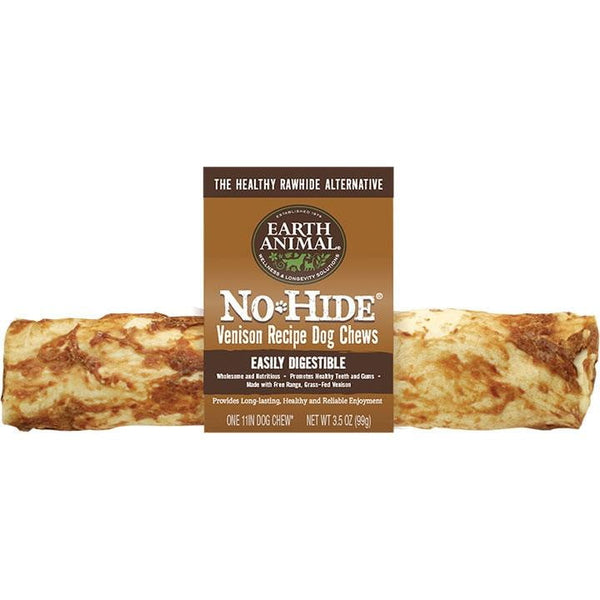 EARTH ANIMAL DOG NO-HIDE VENISON 11 INCHES (Case of 12).
