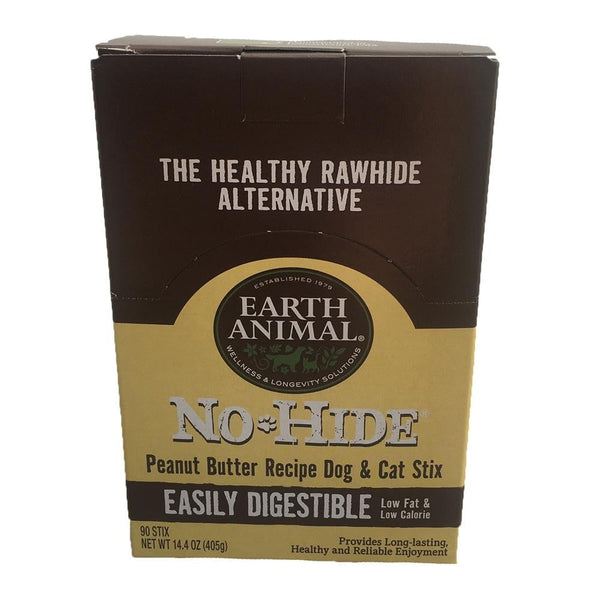 Earth Animal No Hide Chews Peanut Butter Stix 90 Count