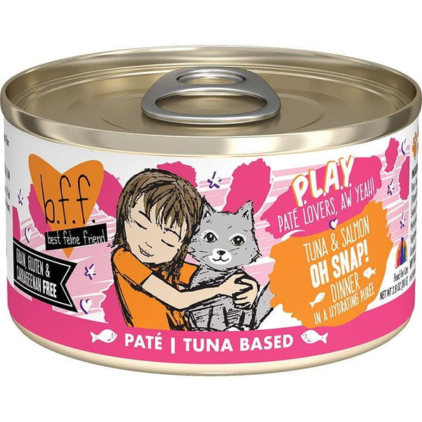 BFF Cat Play Oh Snap Tuna 2.8 Oz. Case of  24 (Case of  24).