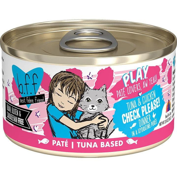 BFF Cat Play Check Tuna 2.8 Oz. Case of  24 (Case of  24).