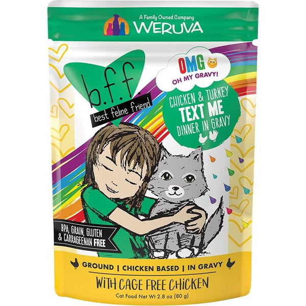BFF Cat Omg Text Me Chicken 3 Oz. Pouch.