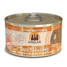 WERUVA CAT STEW! TACO STEWSDAY BEEF, CHICKEN & SALMON 2.8OZ.
