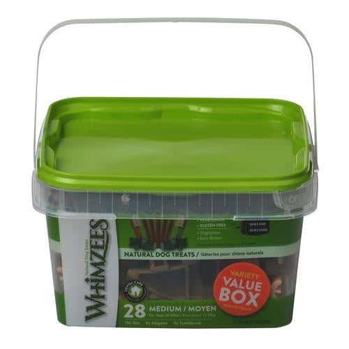 Whimzees Variety  Pack  Medium 28 Count Pail.