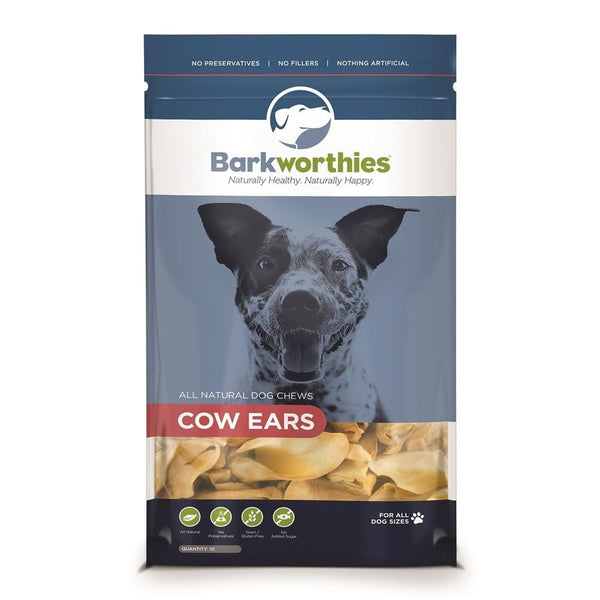 Barkworthies Cow Ears (10-Pack ).