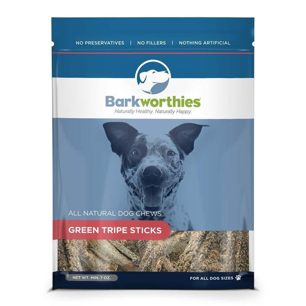 Barkworthies Belly Bark Green Tripe Sticks (Net Wt. 07 oz. ).