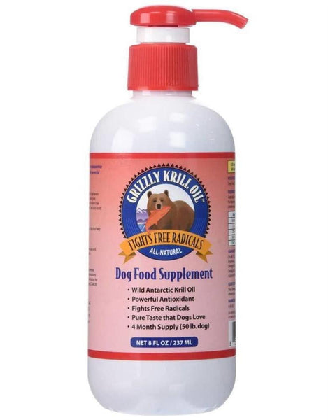 GRIZZLY DOG KRILL OIL 8OZ.