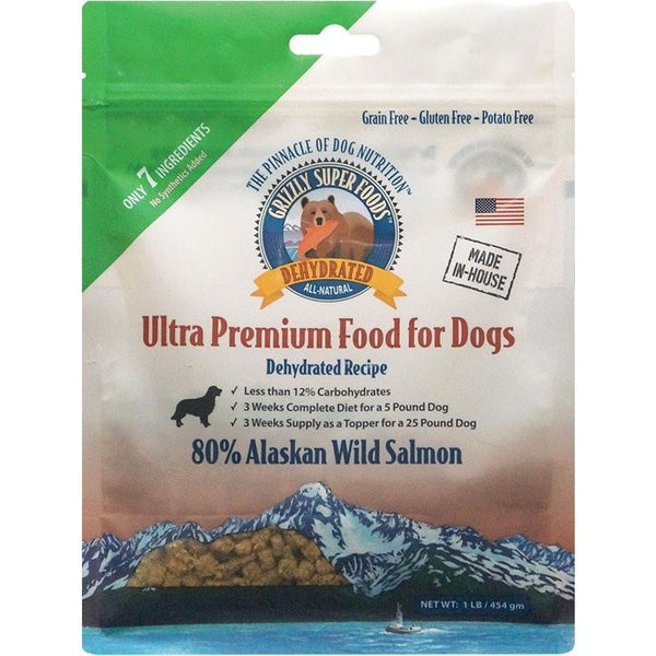 GRIZZLY DOG DEHYDRATED GRAIN FREE SALMON 1LB.
