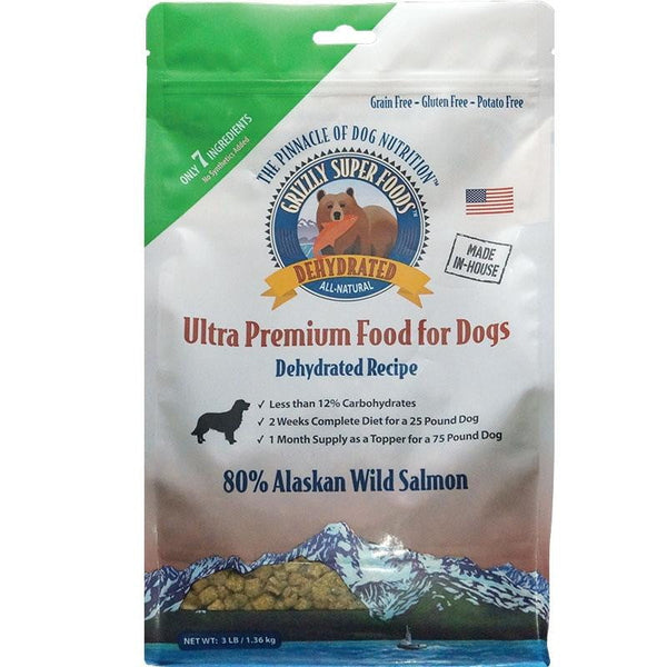 GRIZZLY DOG DEHYDRATED GRAIN FREE SALMON 3LB.