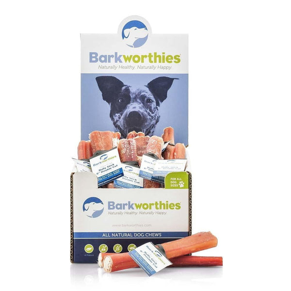 Barkworthies Bully Stick - Odor Free - 06'' Double Cut   Sold As Whole Case Of: 50.