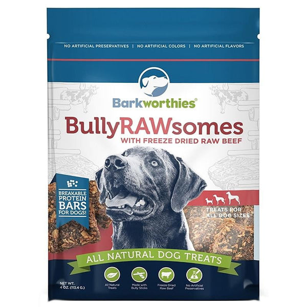 Barkworthies Bully Rawsomes with Freeze-Dried Raw Chicken (Net Wt. 04 oz. ).