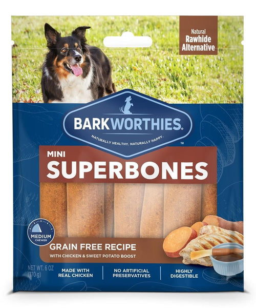 Barkworthies Mini SuperBone Grain Free Chicken Sweet Potato (12-Pack ).