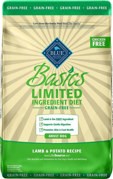 Blue Buffalo Dog Basic  Grain-Free  Lamb 22 Lbs..