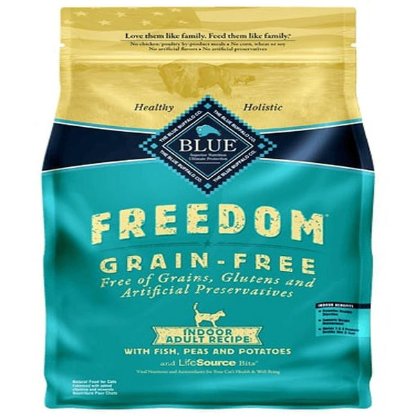 Blue Buffalo Cat  Basic  Grain-Free  Fish Indoor  5 Lbs.