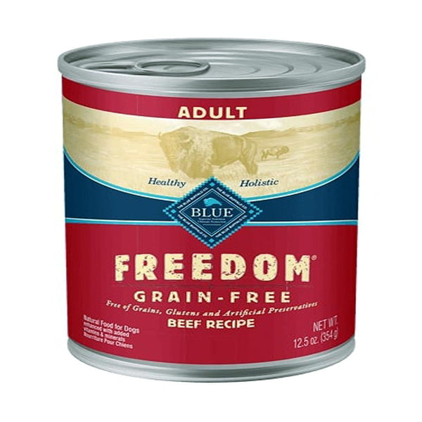 Blue Buffalo Dog  Freedom  GF Beef 12.5 Oz.(Case of 12).