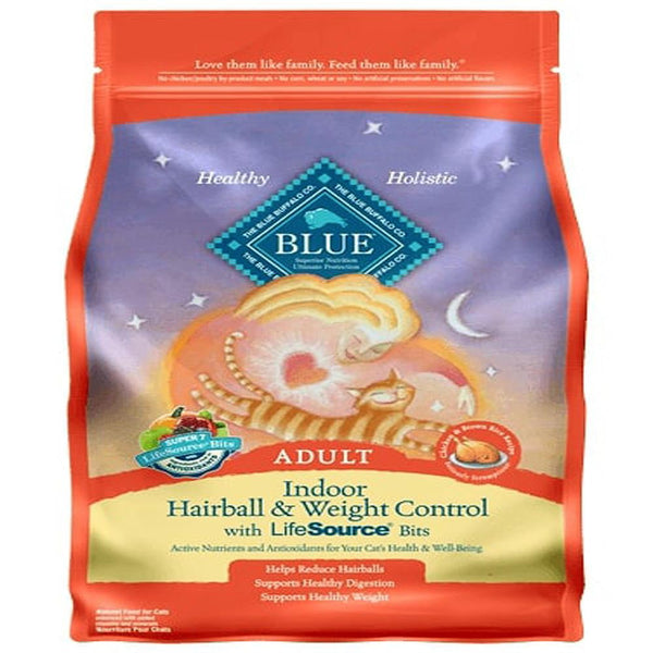 Blue Buffalo Cat  Indoor  Weight Control  Trout Hairball  Chicken  7 Lbs..