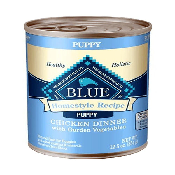 Blue Buffalo Dog Homestyle  Puppy Chicken Vegetables12.5 Oz.(Case of 12  ).