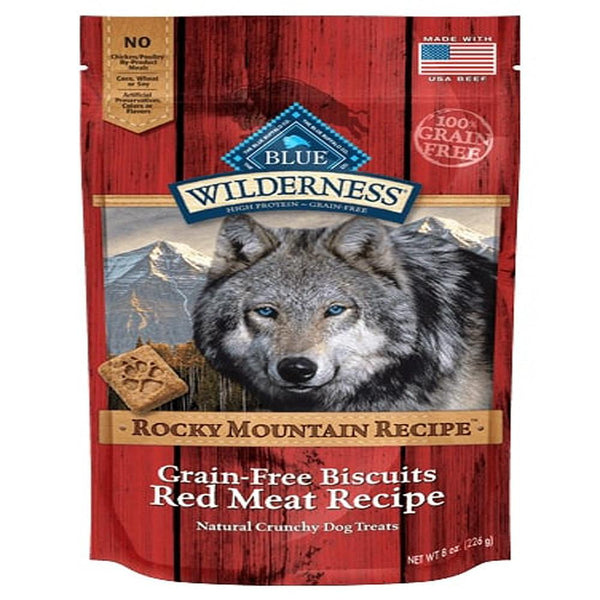 Blue Buffalo Dog Wilderness  Biscuits Rocky  Mountain Red  8 oz..