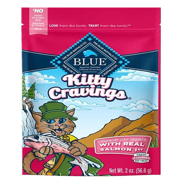 Blue Buffalo Cat Kitty Craving Crunchy Salmon 2 Oz. - Leaderpetsupply.com