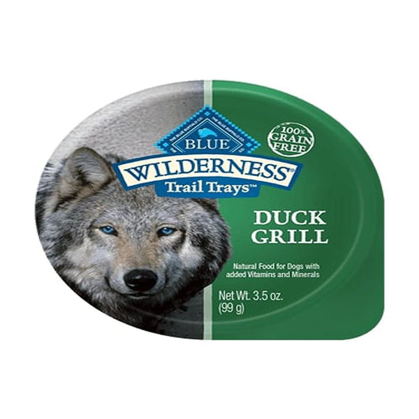 Blue Buffalo Dog Wilderness  Pate Duck 3.5 Oz. Cup(Case of  24).