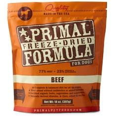Primal Pet Foods Freeze Dried Dog  Food 5.5 oz.- Beef.