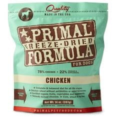 Primal Pet Foods Freeze Dried Dog  Food 5.5 oz.-Chicken.