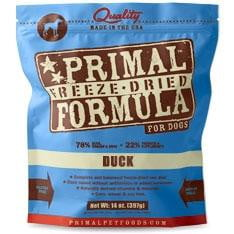 Primal Pet Foods Freeze Dried Dog  Food 5.5 oz.- Duck.