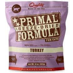 Primal Pet Foods Freeze Dried Cat Food- 5.5 oz.- Turkey.